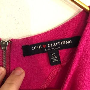 one clothing Dresses - [One Clothing] Pink Zipper Pocket Dress - Small